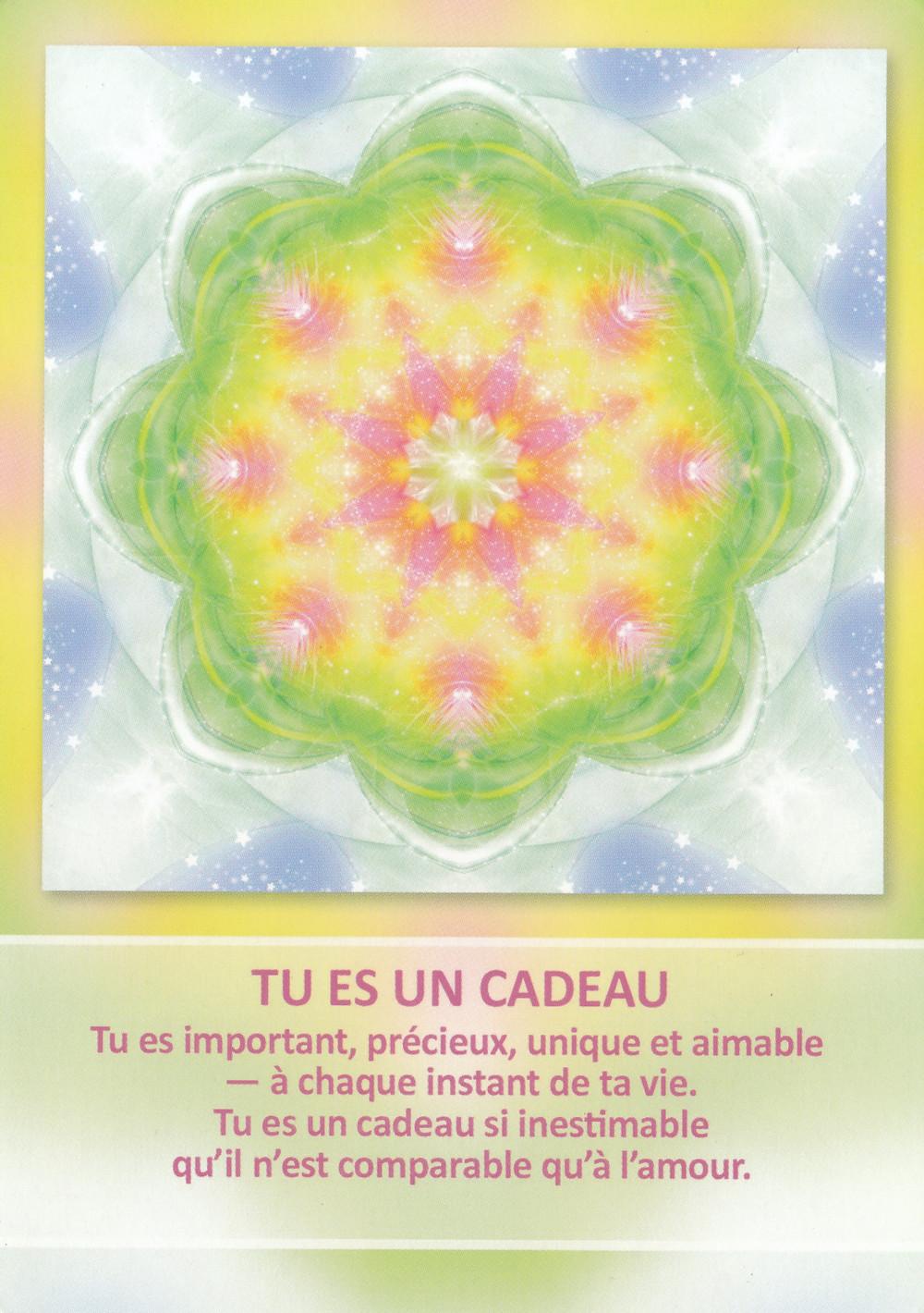 Carte tirée de l'Oracle des Mandalas d'Énergie de Gaby Shayana Hoffmann - Energies 1er août - Nouvelle Lune