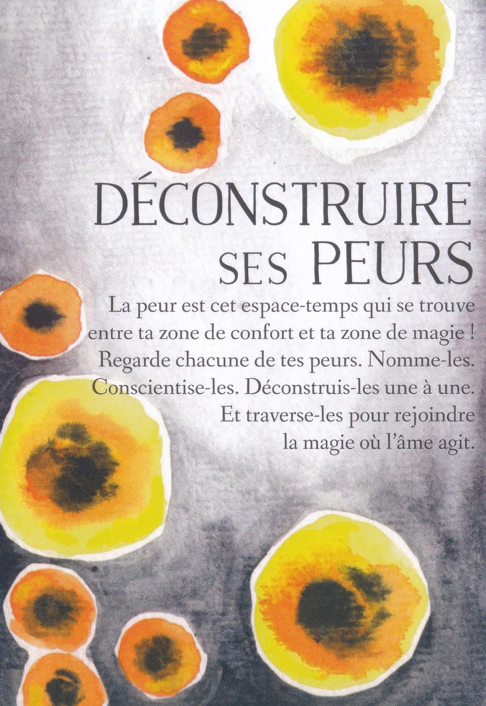 Carte de L'Oracle des messages de ton âme, de Charlotte Daynes ( Déconstruire ses peurs) -
