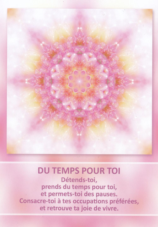 Carte tirée de l'Oracle des Mandalas d'Énergie de Gaby Shayana Hoffmann - Du temps pour toi