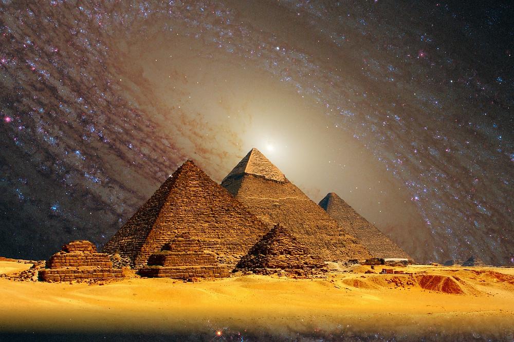 Soin énergétique Ciel et Terre de F : Déesse Isis, Présence Divine et symbole Pléiadien...