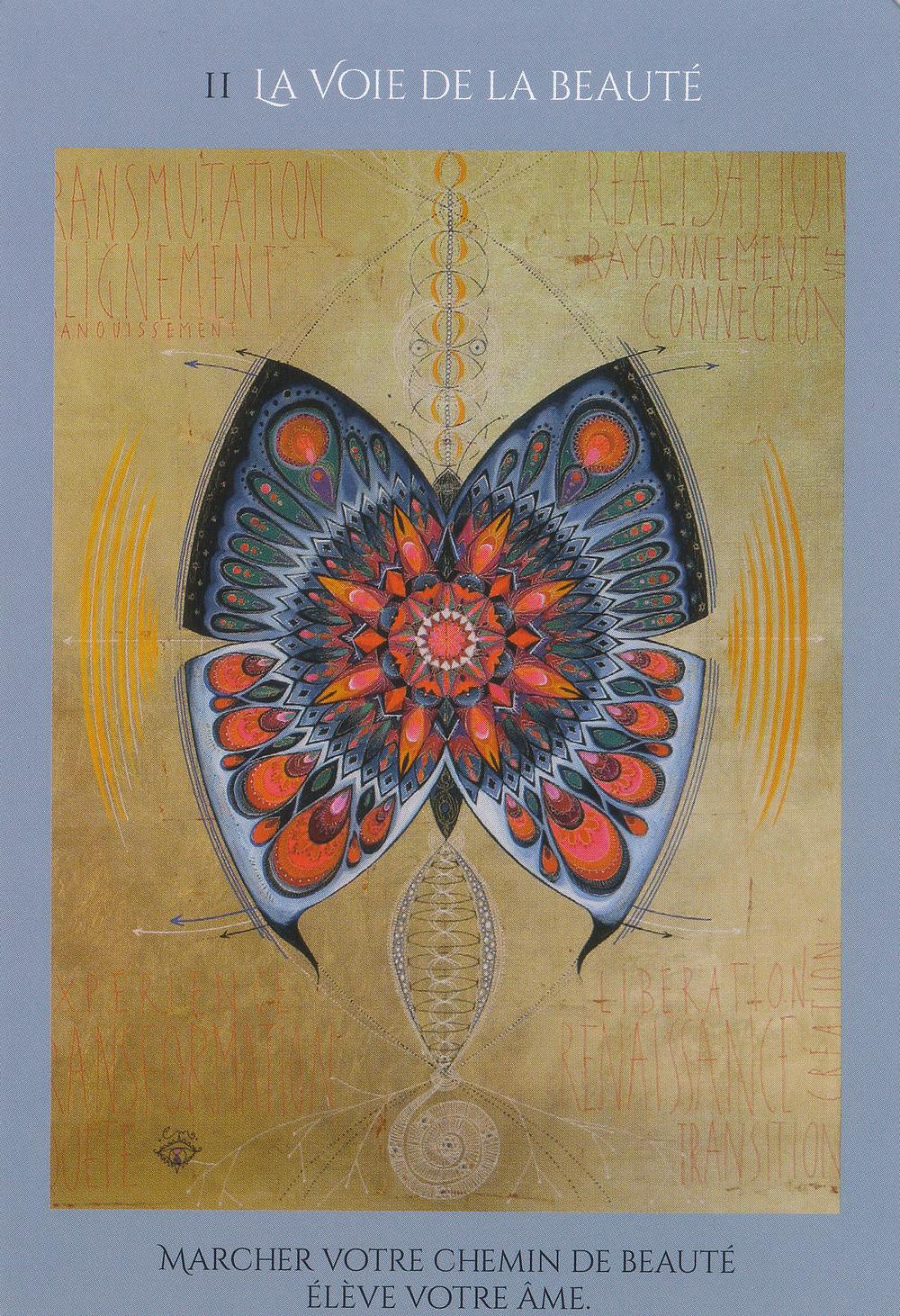 Carte de L'Oracle des femmes médecine de Catherine Maillard - Énergies du 12 au 18 Avril 2021 (Nouvelle Lune) : Cultiver la Beauté pour se régénérer et s'élever - Guérison du Coeur et de l'enfant intérieur