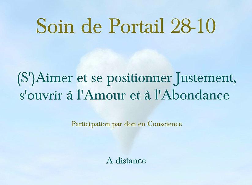 Soin de Portail 28-10 : S'ouvrir à l'Amour et à l'Abondance