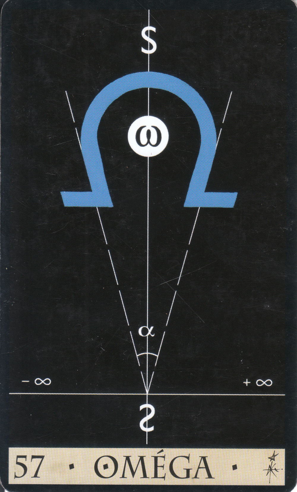 Carte tirée de L'Oracle de la Triade de Dominike Duplaa - 57 : OMEGA