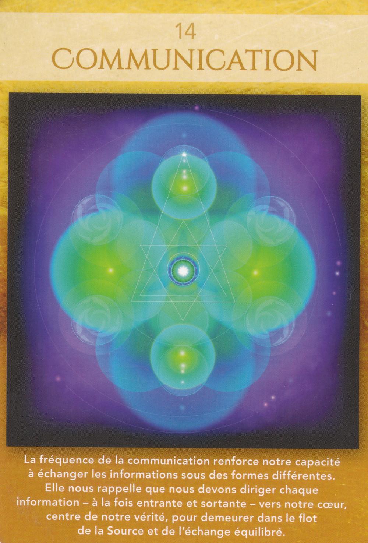 Carte de L'Oracle Géométrie Sacrée de Lon - 14 - Communication - Energies du 11 au 17 mai 2020 : Vivre son Pouvoir Créateur en communiquant à Juste valeur...