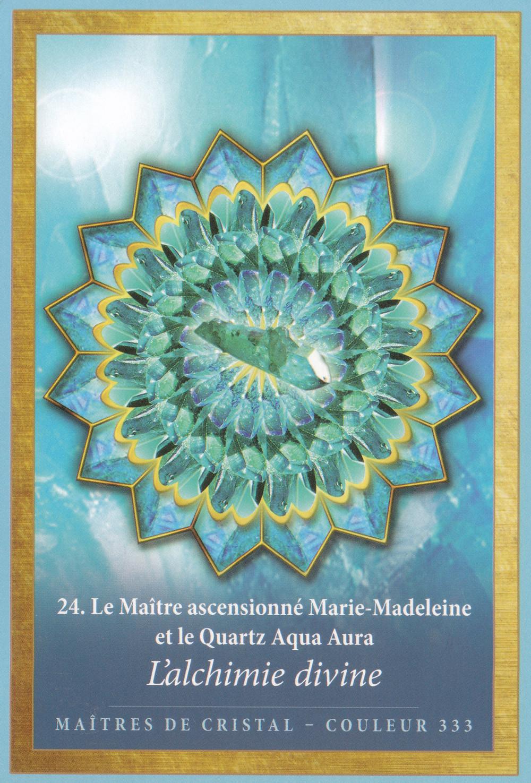 Carte de L'Energie des Anges et des Cristaux d'Alana Fairchild - L'Alchimie Divine - Energies du 21-22-23 février 2020 (Portail et Nouvelle Lune) : Transformer le plomb en Or et la peur en Amour