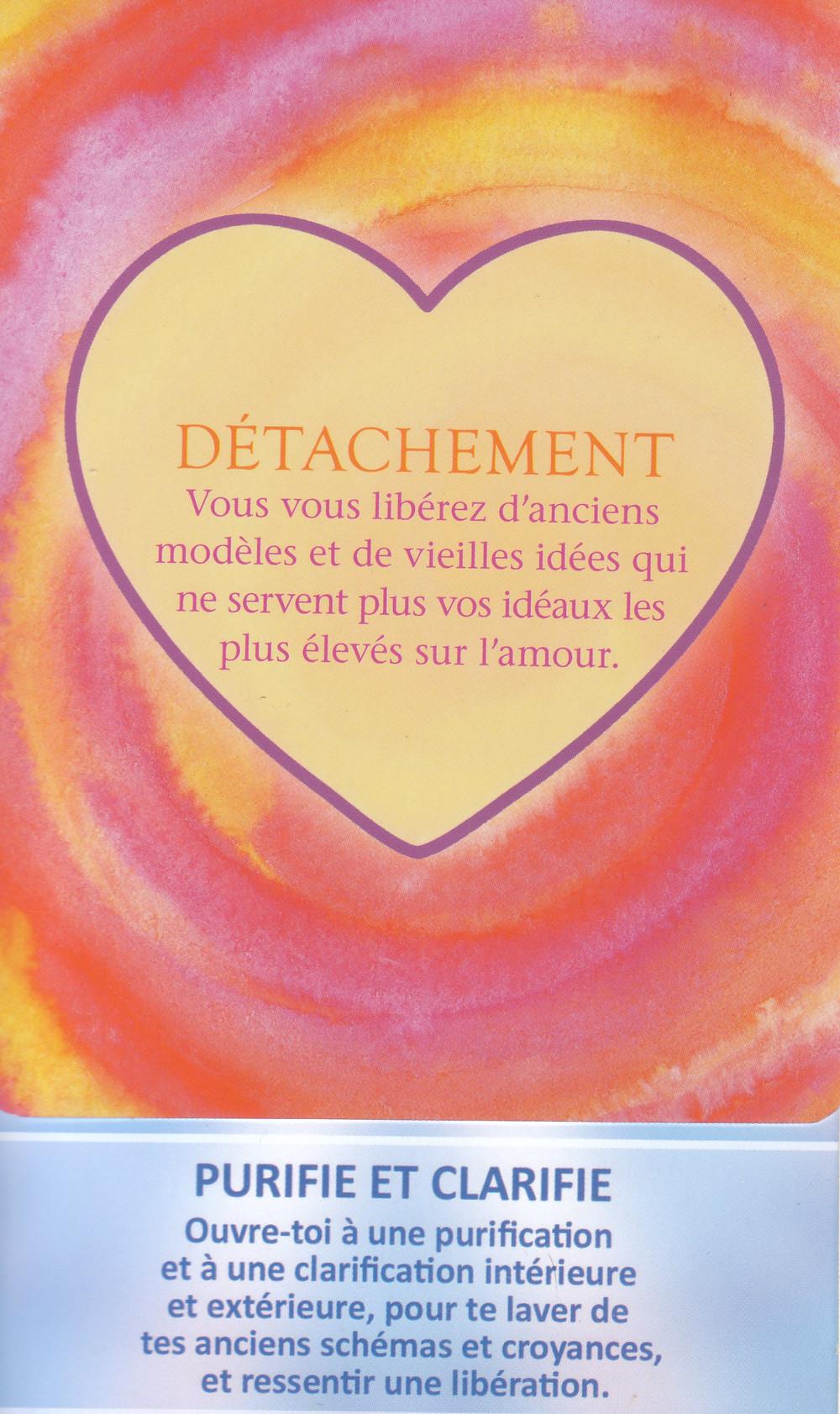 Cartes tirées de L'Oracle des Mandalas d'Énergie de Gaby Shayana Hoffmann et de l'Oracle Le Pouvoir de l'Amour de James Van Praagh