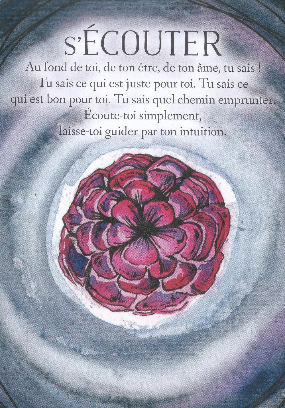 Carte de L'Oracle des messages de ton âme, de Charlotte Daynes - Énergies du weekend et Nouvelle Lune du 12 avril 2021 :  S'écouter pour garder l'équilibre !