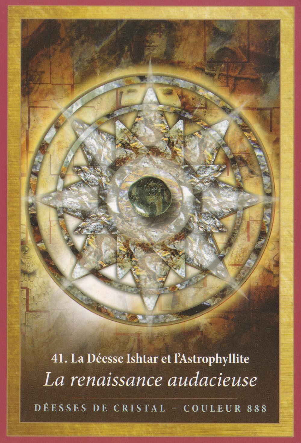 Carte de L'Energie des Anges et des Cristaux d'Alana Fairchild - 41 - La renaissance audacieuse - Energies du weekend du 31 janvier au 2 février 2020 (Portail) : On se lance dans notre Renaissance !