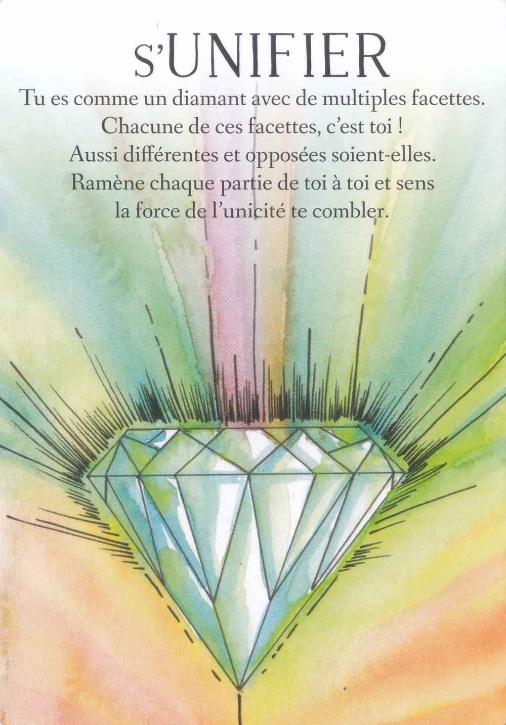 Carte de L'Oracle des messages de ton âme, de Charlotte Daynes - Energies du weekend 25-26-27 septembre : Transformation, élévation, unification : on garde le cap !