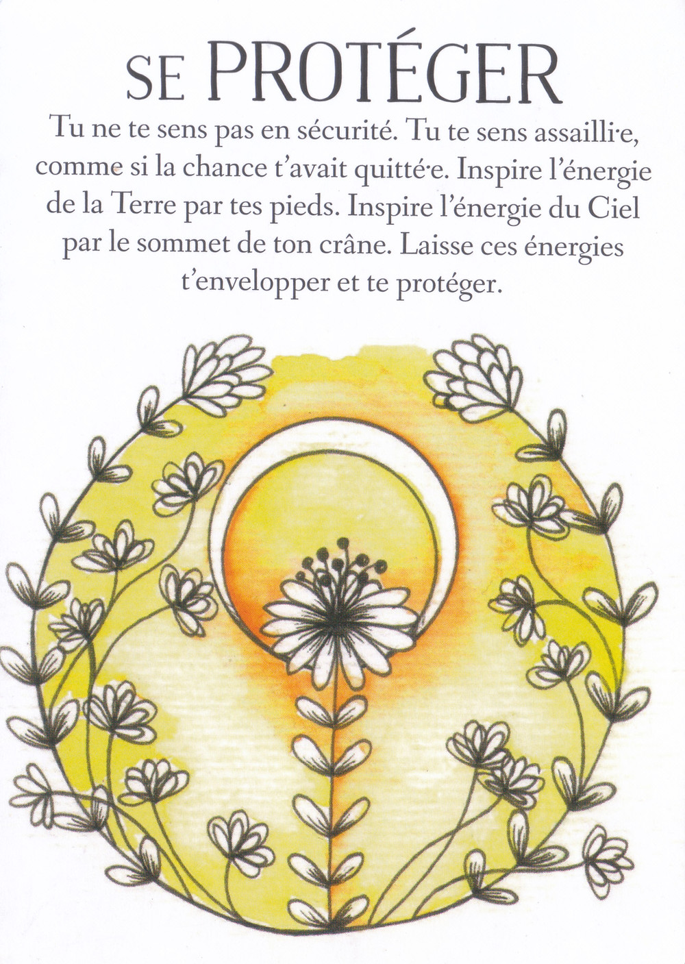 Carte de L'Oracle des messages de ton âme, de Charlotte Daynes - Energies du weekend du 18-19-20 septembre 2020 : Amour et Foi, Soutien et Protection