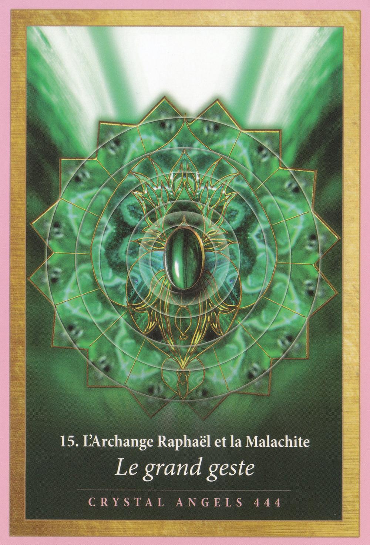 Carte de L'Energie des Anges et des Cristaux d'Alana Fairchild - 15 - Le Grand Geste - Energies du 24 février au 1er mars 2020 : Le Grand Saut !