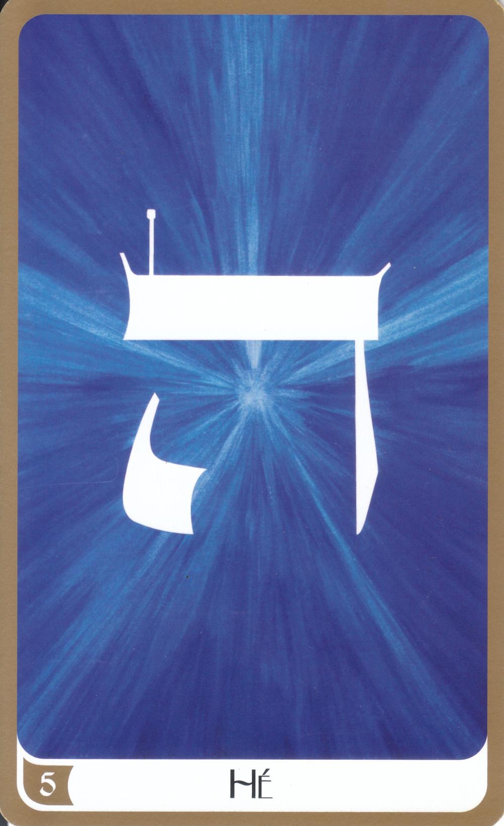 Carte tirée du Tarot des Lettres Hébraïques de Marie Elia - 5 Hé