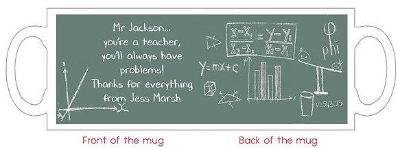 DM006 A Teachers Problems Mug