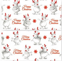 Reindeer Gift Wrap - 4 Sheets with Matching Tags