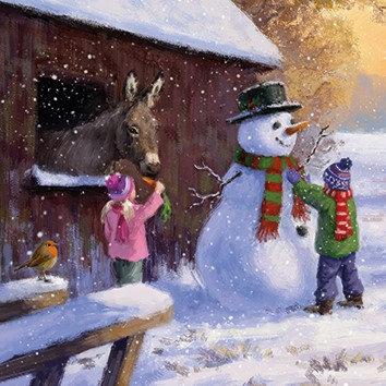 T16124 Snowman & Donkey - Cost per pack isjust £1.50 (inc vat) rrp £3.00