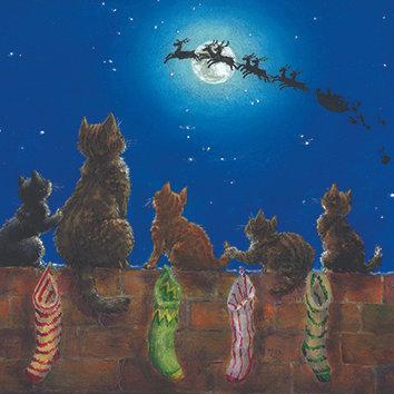 T17279 Christmas Cats - Cost per pack isjust £1.50 (inc vat) rrp £3.00