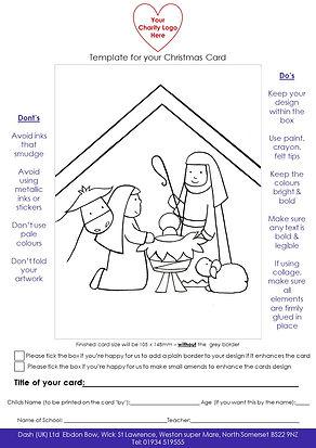 Charity Schools Card Template Nativity.j