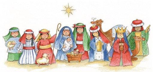 T17166 Nativity Money Wallet
