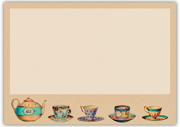 DT18038 Tea Pot & Tea Cup Note Cards