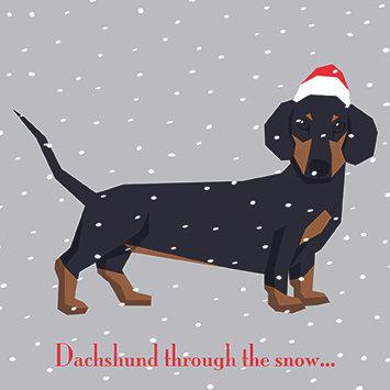 T17170 Dachshund Through The Snow - Cost per pack isjust £1.50 (inc vat) rrp £3
