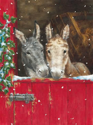 T14123 Donkeys in Red Stable - Cost per pack isjust £1.50 (inc vat) rrp £3.00
