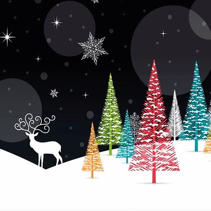 17017 Reindeer in the Snow