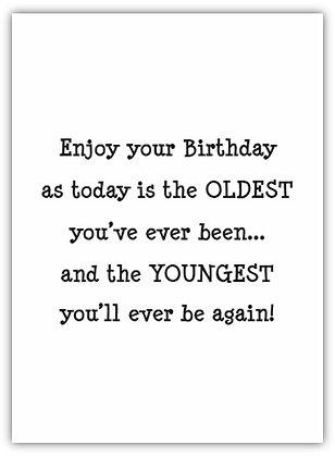 15018SW - Enjoy Your Birthday