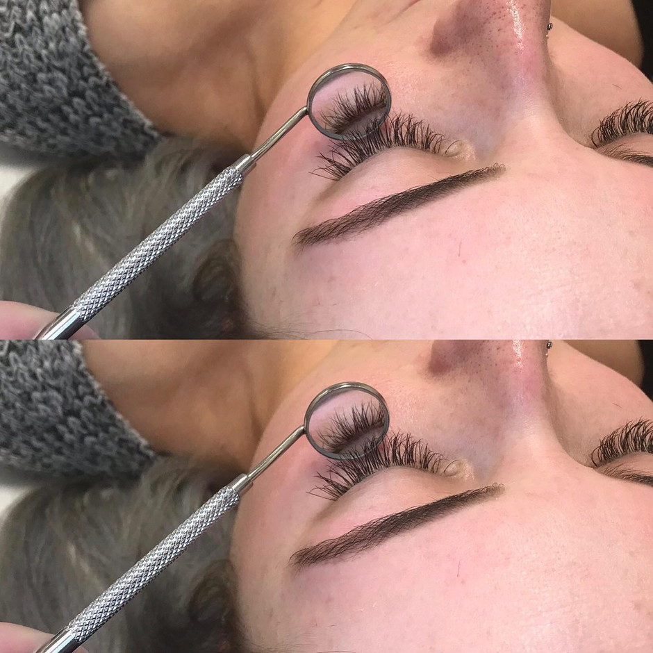 Classic lash infills! Brow wax and tint