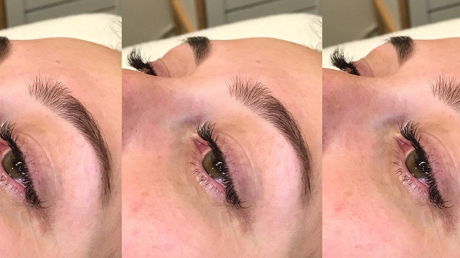 Classic lashes + brow wax and tint!
