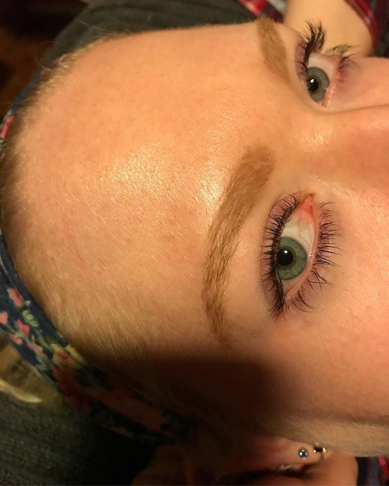 Eyelash tint!