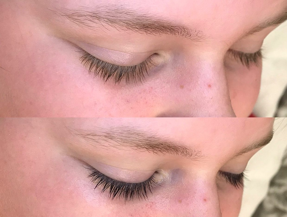 Lash tint for this beautiful girl!