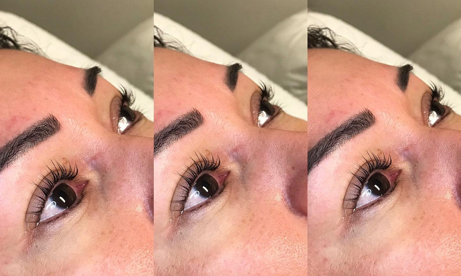 Lash lifts and brows for these beauties!