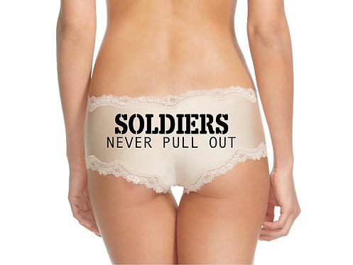 Soldiers Never Pull Out Nude Cheeky Panties
