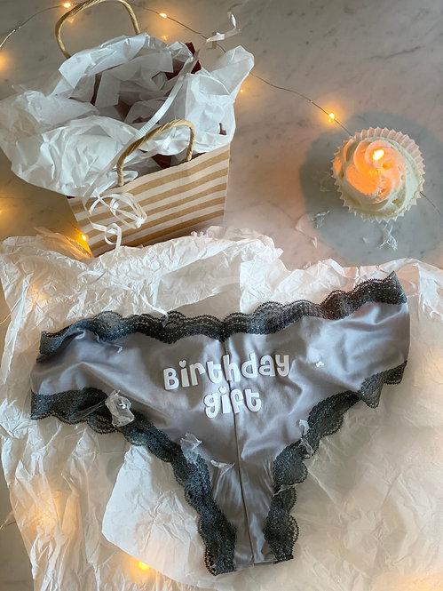 Birthday Gift Gray Cheeky Underwear