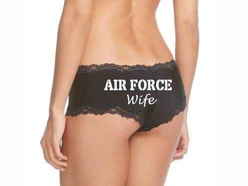 Air Force Wife Black Cheeky Panties