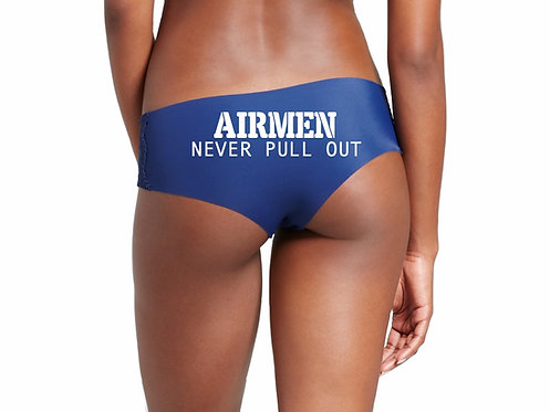 Airmen Never Pull Out Blue Hipster Panty
