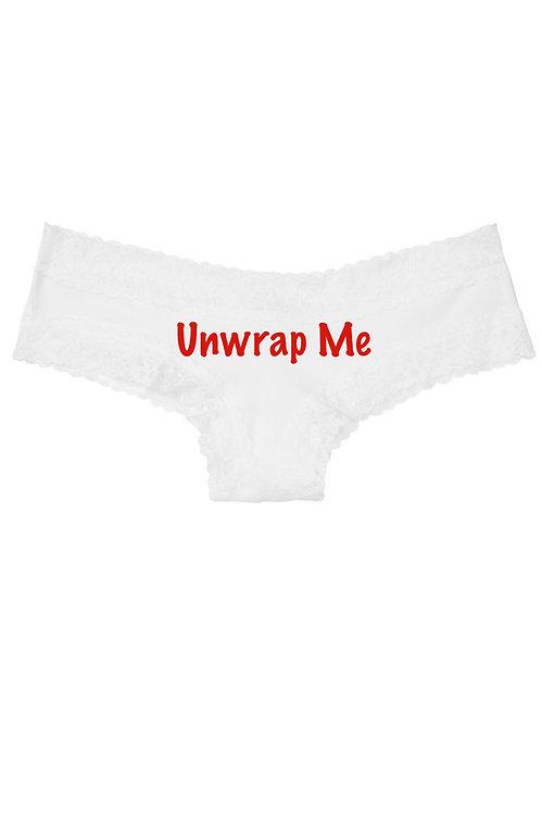 Victoria Secret Unwrap Me white cheeky panty