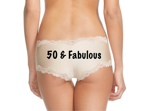 50 & Fabulous cheeky panty in Nude or Black