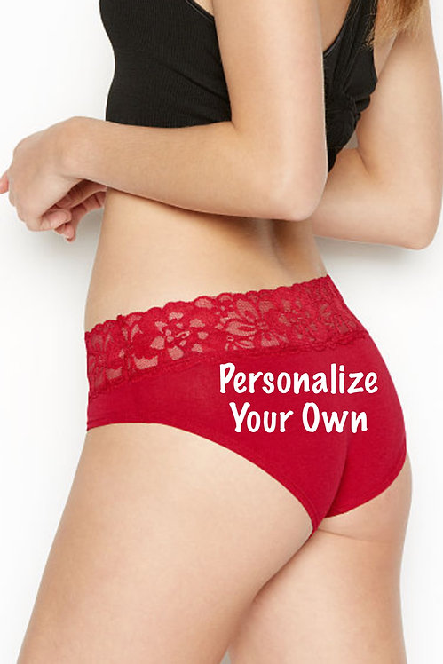 Personalize your own Victoria's Secret Brief Panty