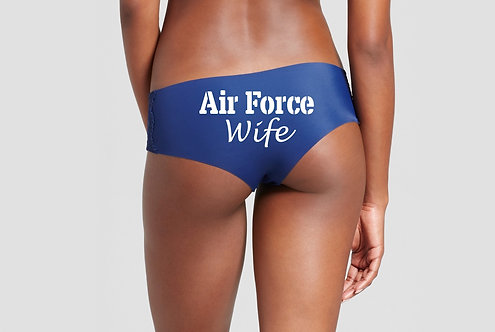 AirForce Wife Blue Hipster Panties