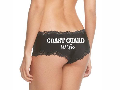 Coast Guard Wife Black Cheeky Panties
