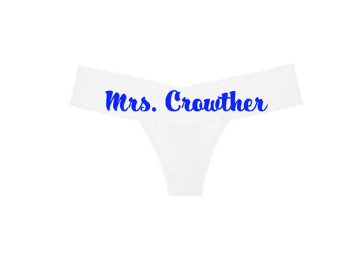 396c61de8 Victoria s Secret White Lace Waist Personalized Thong