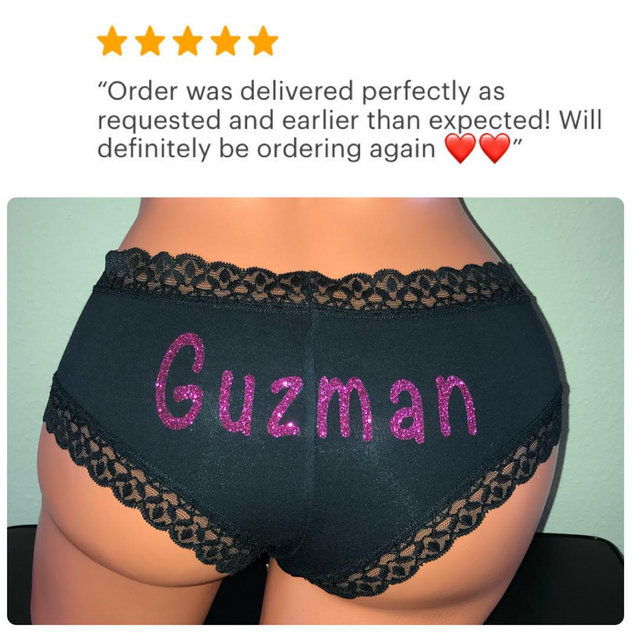 Personalize a Black Cheeky panty for you