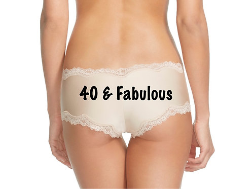 40 and Fabulous cheeky panty in Nude or Black