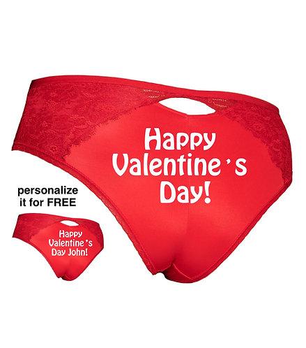 Happy Valentine's Day Plus Size panty