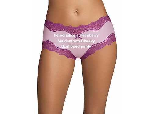 Personalize a raspberry Maidenform Cheeky Scalloped Panty