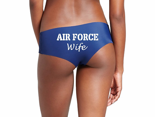 Air Force Wife Blue Hipster Panties