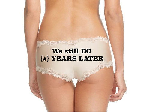 We still DO {#} YEARS LATER nude or black cheeky panty