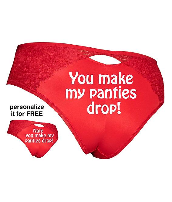 You make my panties drop Plus Size panty