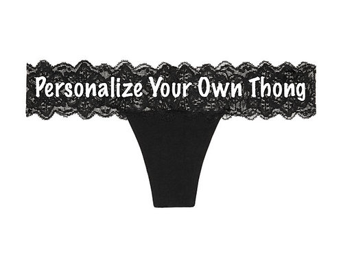 Personalize Your Own Victoria's Secret Black Lace Waist Thong